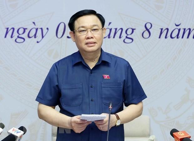 Presidente del Parlamento vietnamita dialoga con votantes hinh anh 1