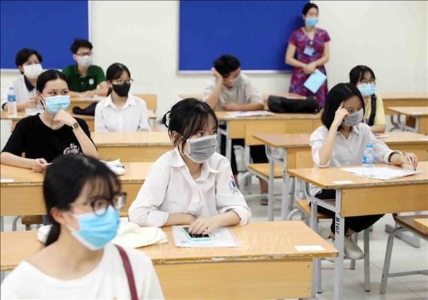 Miles de estudiantes se inscriben para segundo examen de bachillerato en Vietnam hinh anh 1