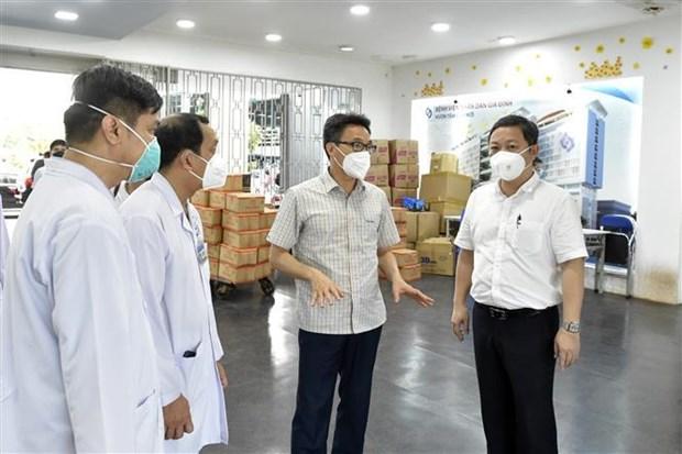 Instan a Ciudad Ho Chi Minh a centrarse en recibir y tratar a pacientes graves con COVID-19 hinh anh 2