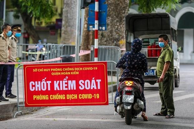 Prolonga Hanoi medidas de distanciamiento social en 15 dias hinh anh 1