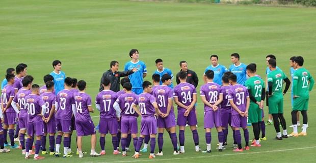 Futbolistas vietnamitas se concentran para eliminatorias mundialistas hinh anh 1