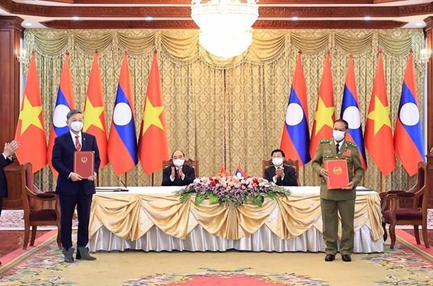 Vietnam presenta altas distinciones al Ministerio de Seguridad Publica de Laos hinh anh 1