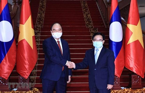 Presidente vietnamita continua agenda apretada en Laos hinh anh 1