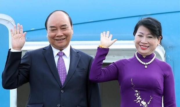 Presidente vietnamita emprende visita oficial a Laos hinh anh 1