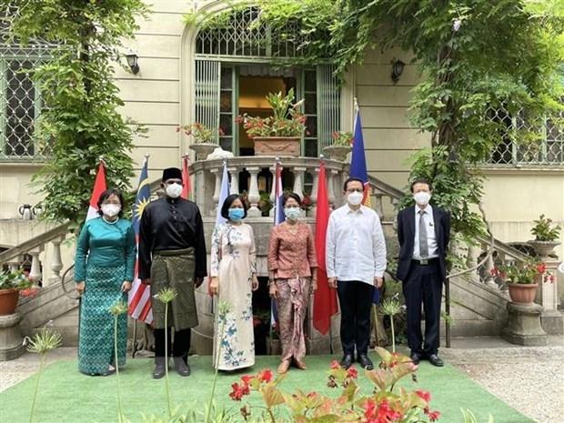 Celebran en Italia aniversario 54 de la fundacion de la ASEAN hinh anh 1