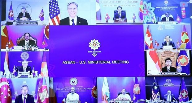 ASEAN recibe respaldo de socios de dialogo en lucha antipandemica hinh anh 1