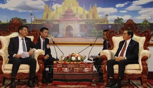 Fomentan Vietnam y Laos cooperacion en comercio y asuntos judiciales hinh anh 1