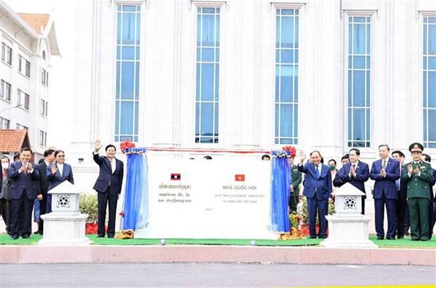 Vietnam concede gran importancia a nexos con Laos, segun presidente Nguyen Xuan Phuc hinh anh 4