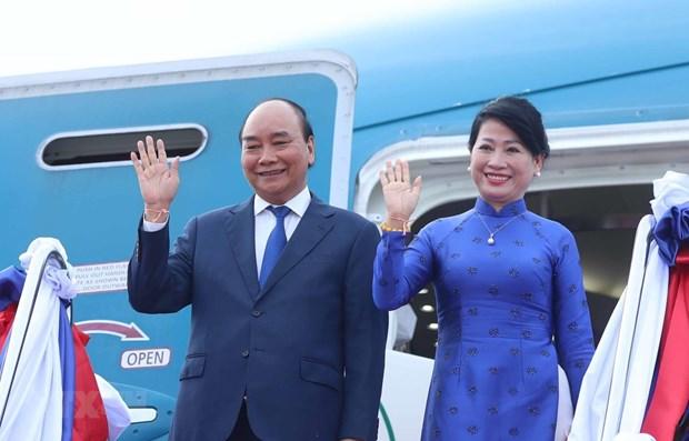 Presidente de Vietnam concluye visita oficial a Laos hinh anh 1