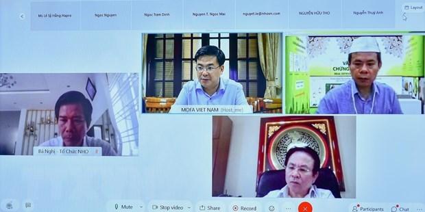 Efectuan seminario virtual sobre cooperacion internacional sobre desarrollo de productos Halal hinh anh 1