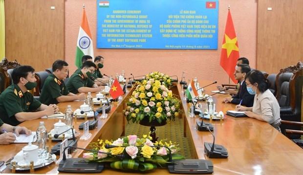 India ayuda al Ministerio de Defensa de Vietnam a construir sistema de tecnologia de la informacion hinh anh 1