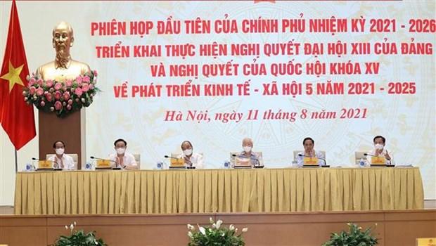 Evalua Gobierno de Vietnam implementacion de plan socioeconomico nacional para proximo lustro hinh anh 1