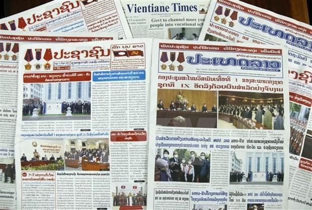 Prensa laosiana califica de exito la visita del Presidente de Vietnam hinh anh 1