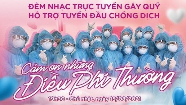 Organizan evento musical para recaudar fondos para lucha contra el COVID-19 en Vietnam hinh anh 1