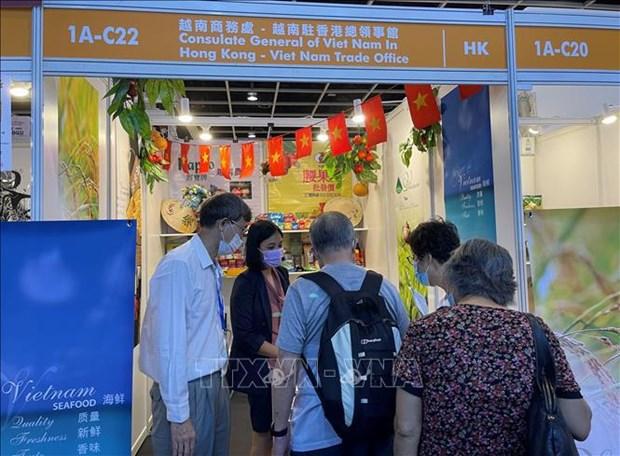 Presentan productos vietnamitas en Exposicion alimentaria de Hong Kong 2021 hinh anh 1