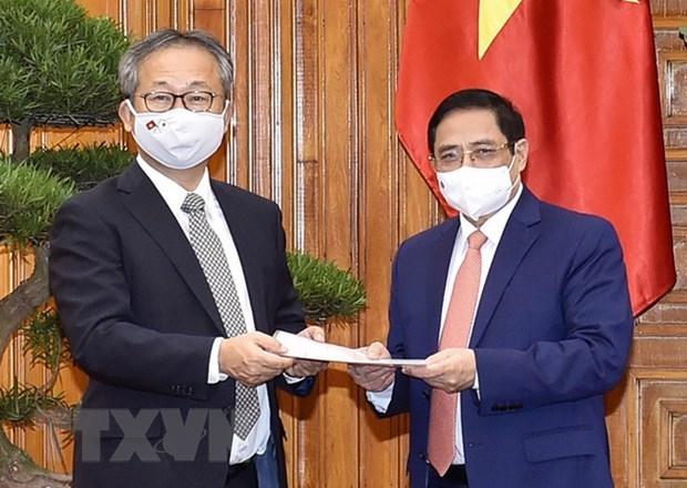 Aspira Vietnam a promover cooperacion con Japon en produccion de vacunas contra COVID-19 hinh anh 1