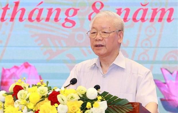Exige maximo dirigente partidista de Vietnam consolidar gran unidad nacional hinh anh 1