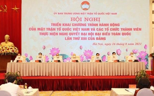Efectuan conferencia sobre implementacion de Resolucion del XIII Congreso partidista de Vietnam hinh anh 1