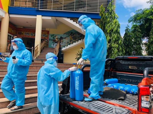 Establecen cajeros automaticos de oxigeno en Ciudad Ho Chi Minh en respuesta al COVID-19 hinh anh 1