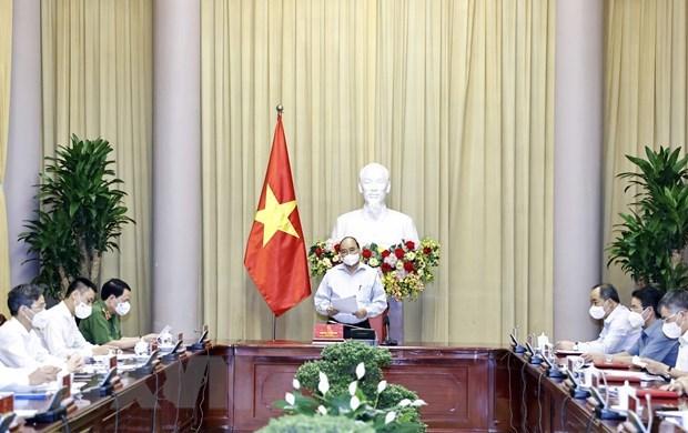 Presidente vietnamita preside reunion sobre implementacion de Decision de amnistia de 2021 hinh anh 1