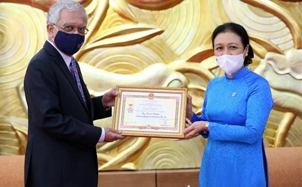 Confieren medalla conmemorativa a coordinador residente de la ONU en Vietnam hinh anh 1
