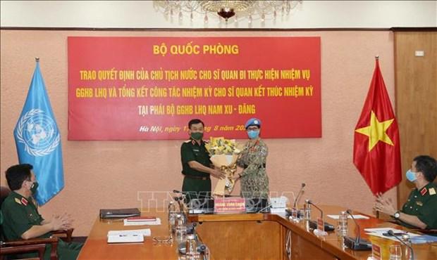 Vietnam envia otra oficial femenina a misiones de paz de la ONU hinh anh 1