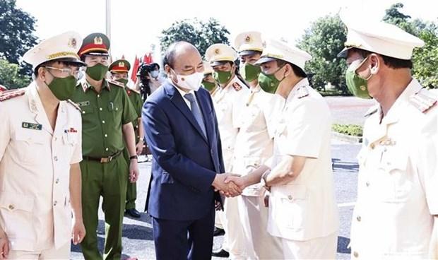 Presidente vietnamita inspecciona ejecucion de decision de amnistia en provincia nortena hinh anh 1