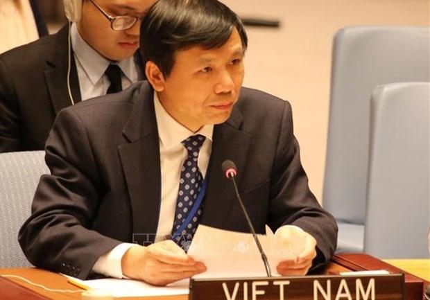 Embajador vietnamita destaca papel de tecnologia en operaciones de mantenimiento de paz hinh anh 1