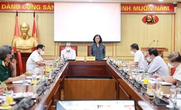 Efectuan primera sesion del Comite Directivo sobre construccion de las bases del Partido hinh anh 1