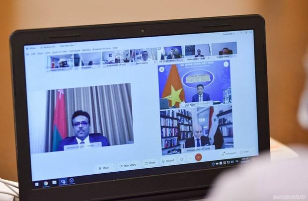 Diplomaticos debaten medidas para fomentar lazos entre Vietnam y Oriente Medio hinh anh 1