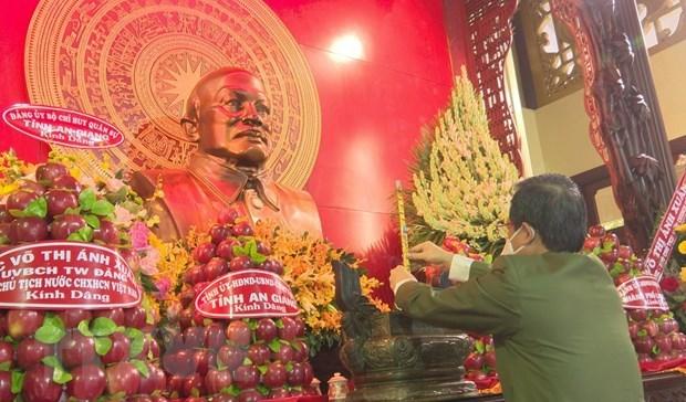 Conmemoran aniversario 133 del natalicio de extinto presidente vietnamita Ton Duc Thang hinh anh 1