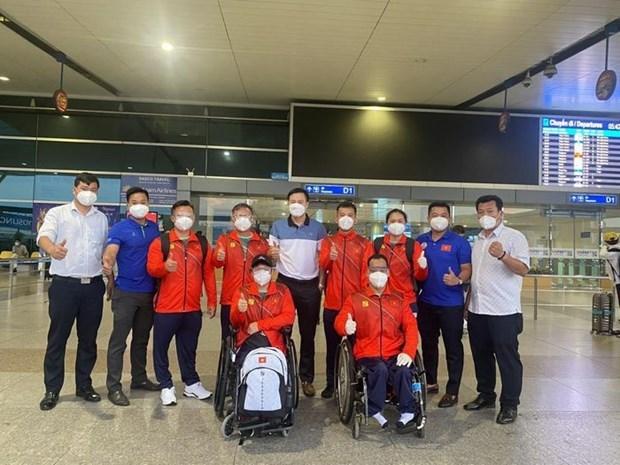 Delegacion vietnamita lista para comenzar su andadura en los Juegos Paralimpicos de Tokio 2020 hinh anh 2