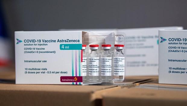 Arriban a Vietnam 1,2 millones de dosis adicionales de la vacuna AstraZeneca hinh anh 1