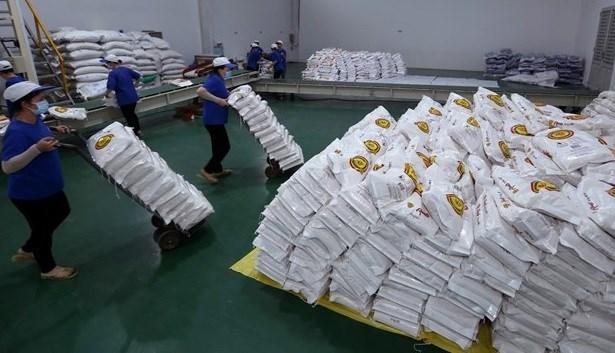 Hanoi dona seis mil toneladas de arroz a localidades afectadas gravemente por COVID-19 hinh anh 1