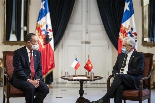 Ratifica presidente de Chile alta valoracion a lazos con Vietnam hinh anh 1