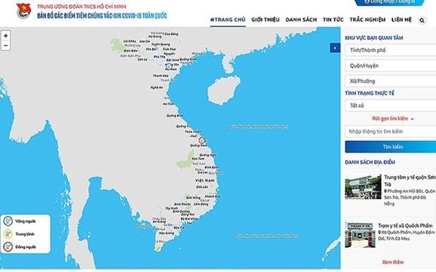 Publican mapa de vacunacion contra el COVID-19 de Vietnam hinh anh 1