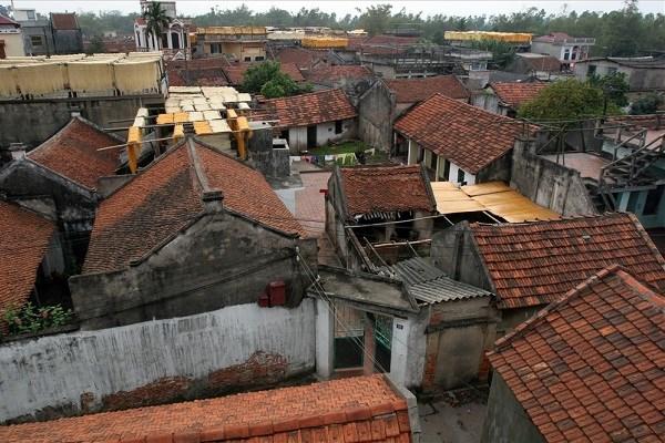 """Aldea de Cu Da en Hanoi, """"museo viviente"""" de arquitectura de pueblo artesanal de Vietnam hinh anh 1"""