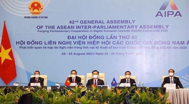 Vietnam participa en la 42 reunion de Asamblea Interparlamentaria de la ASEAN hinh anh 1