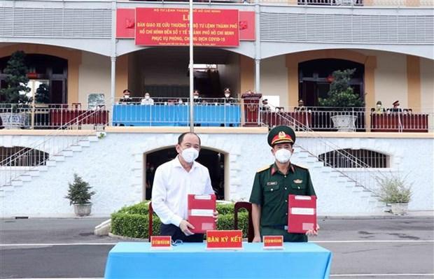 Entregan 30 ambulancias para apoyar a Ciudad Ho Chi Minh en medio del COVID-19 hinh anh 2
