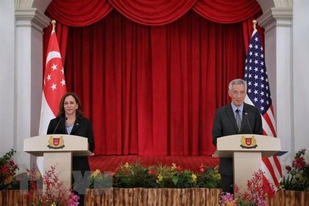 EE.UU. y Singapur por cooperar en nuevas areas hinh anh 1