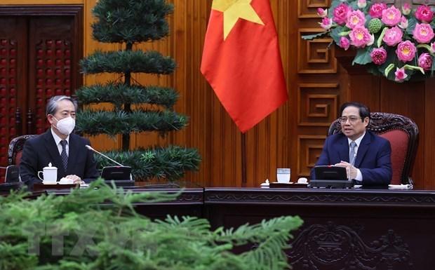 Primer ministro de Vietnam recibe al embajador de China hinh anh 1