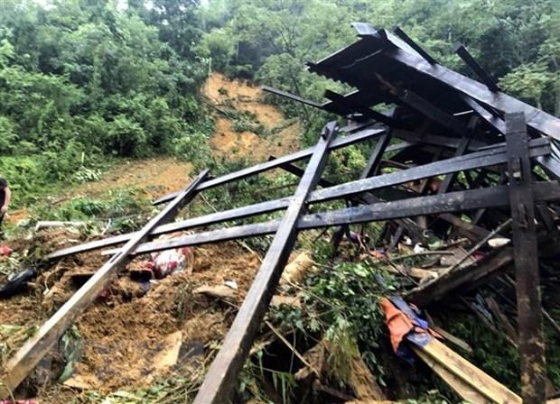 Mueren tres ninos por deslizamiento de tierra en provincia vietnamita hinh anh 1