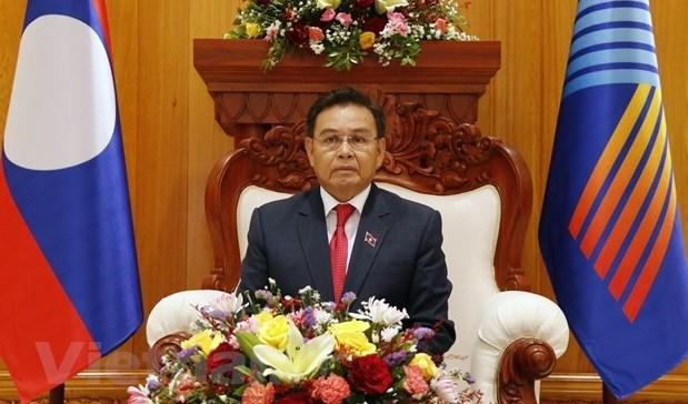 Presidente de la Asamblea Nacional de Laos aprecia propuestas de Vietnam en la AIPA hinh anh 1