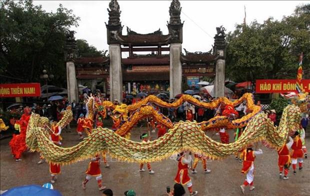 Festival del templo Tran: Patrimonio intangible cultural nacional hinh anh 1
