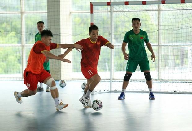 Copa Mundial de Futbol Sala: Vietnam viaja a Espana por su ultimo entrenamiento hinh anh 1