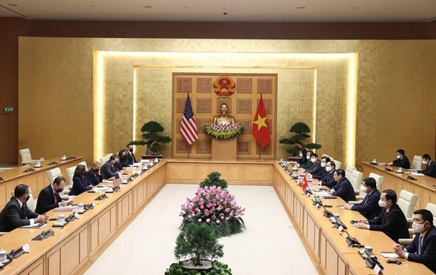 Vietnam desea recibir respaldo continuo de Estados Unidos para controlar el COVID-19 hinh anh 2