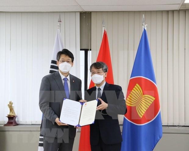 Ciudad sudcoreana dona kits de prueba rapida del COVID-19 a localidad vietnamita hinh anh 1