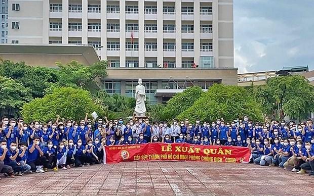 Cientos de medicos de Hanoi apoyan lucha antipandemica en el sur de Vietnam hinh anh 1