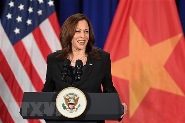 Visita de la vicepresidenta de EE.UU. a Vietnam escribe nuevas paginas sobre relaciones binacionales hinh anh 1
