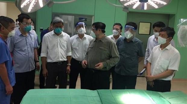 Primer ministro vietnamita inspecciona control pandemico en provincia surena hinh anh 1